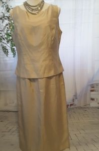 Jessica Howard Evenings gold shimmer dress size 12